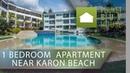 KAR6074 Односпальные Апартаменты с видом на сад недалеко от пляжа Карон
