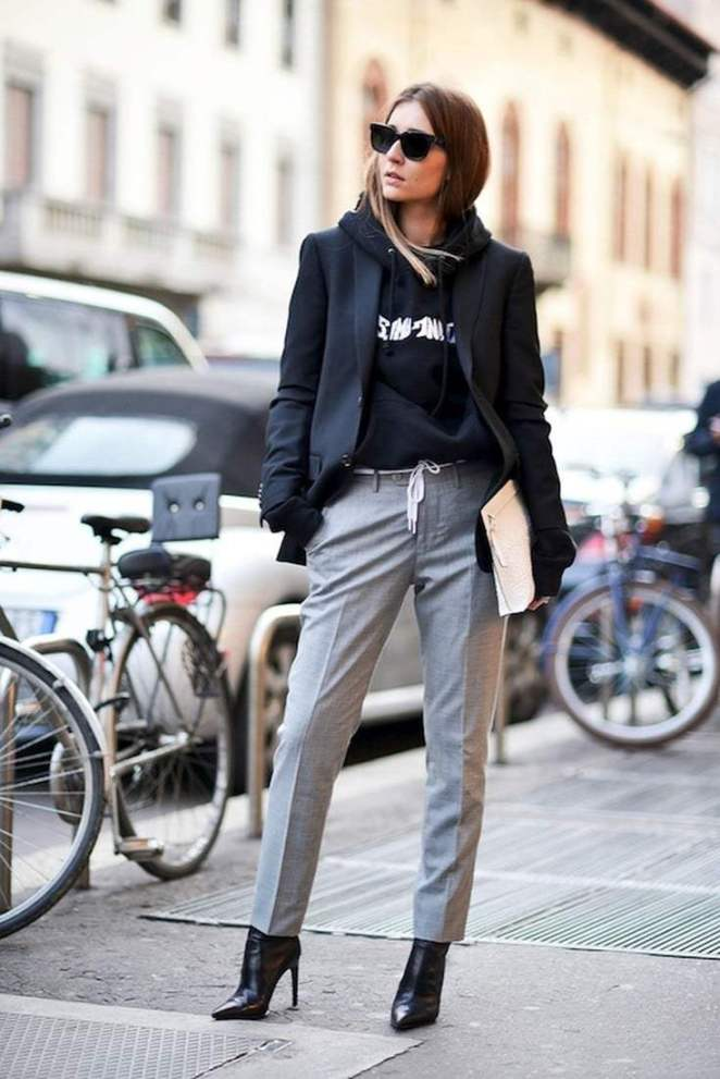 5 способов носить офисные брюки в составе повседневных casual-образов