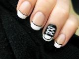 Кеды. Дизайн ногтей (маникюр в домашних условиях, делаем самостоятельно дизайн ногтей на короткие ногти, 2016)