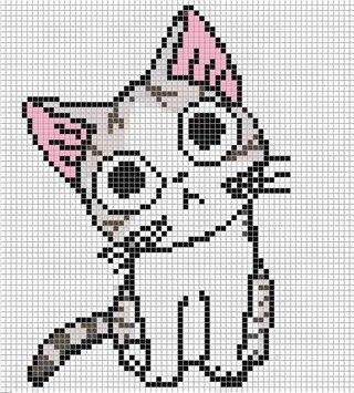 Пиксельные рисунки аниме 3