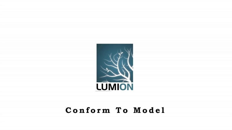 Lumion TIPS and TRICKS Conform To Model