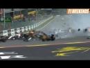 Бельгия 2018 - авария Алонсо, Хюлькенберга и Леклера на старте гонки