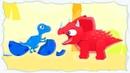 Маленькие динозавры дино 1 Мультик про динозавра для детей, который искал друзей