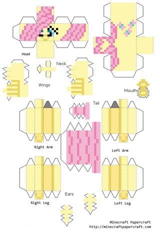 Майнкрафт из бумаги vk