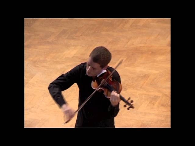 J. S. Bach: Sonata for solo violin in a minor, 4th mov.: Allegro (Kristóf Baráti)