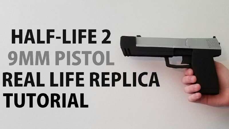 How to Make a 9MM PISTOL from Half-Life 2 with Foam Core Poster Board | HyperPropsFx