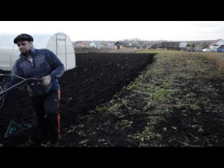 Вспашка огорода мотоблоком НМБ-1Н1