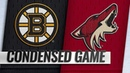 11 17 18 Condensed Game Bruins @ Coyotes