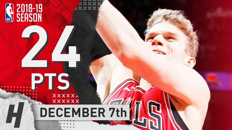 Lauri Markkanen Full Highlights Bulls vs Thunder 2018.12.07 - 24 Pts, 7 Reb, GAME-WINNER!
