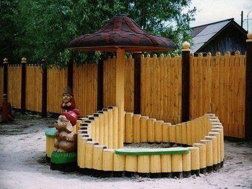 Как вам такая песочница для детей на дачу?… (1 фото) - картинка