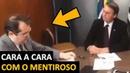 Bolsonaro cara a cara com Jornalista da Folha de São Paulo