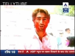 Harshad Chopda In Zoom Holi Party _ SBS 25th March 2016