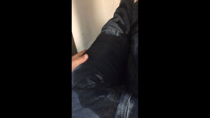 Shower Jeans Wetting