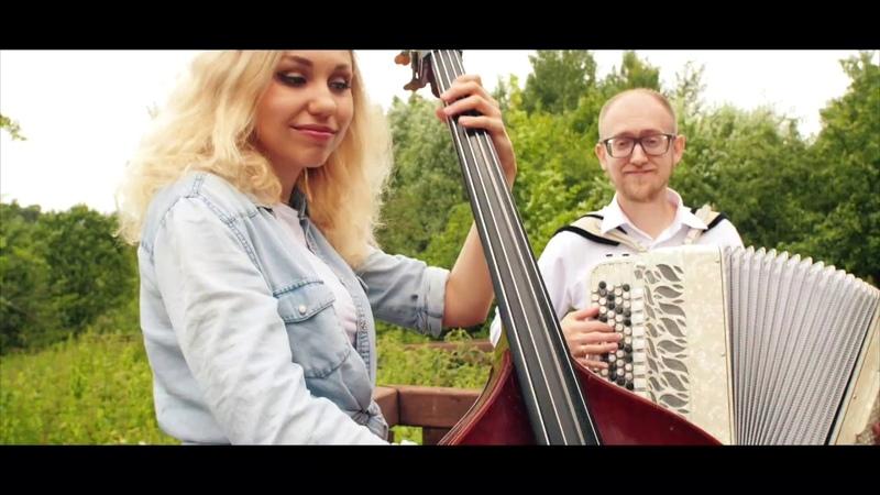 Эдуард Аханов и Дарья Шорр - Джаз-вальс Eduard Akhanov - Jazz waltz [баянист, accordion, контрабас]