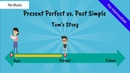 Present Perfect Tense vs. Past Simple: Tom's Story (No Music)