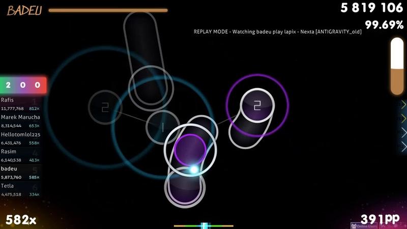 [7.71⭐] badeu | lapix - Nexta [ANTIGRAVITY_old] 98.65% {1 💖 1st FC} - osu!