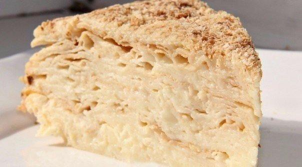 Торт наполеон заварным кремом фото рецепт