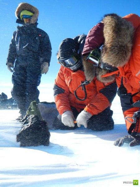 """Исследователи антарктической станции """"Принцесса Елизавета"""" нашли самый большой метеорит за последние 25 лет. Его масса составляет 18 кг"""