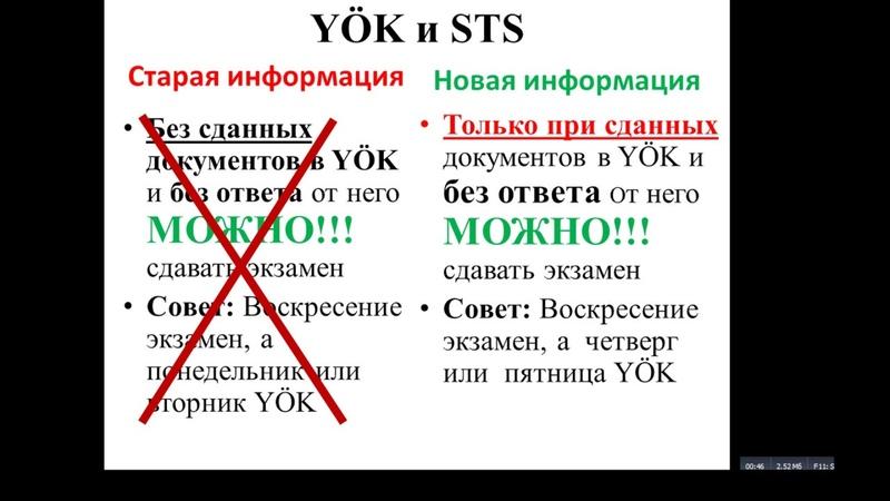 Подтверждение диплома врача в Турции.Новые дополнения/изменения в документах.YÖK и STS