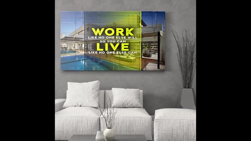 Work Like No One Else - Motivational Canvas Wall Art