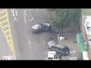 Жесткая авария в Нью-Йорке
