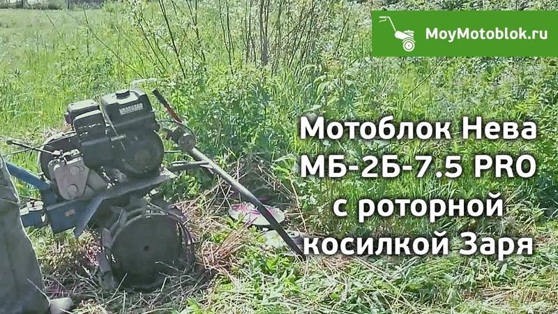 Мотоблок Нева МБ 2Б 7 5 PRO с роторной косилкой Заря