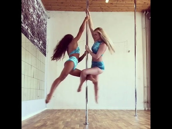 Pole Dance Дуэт на пилоне
