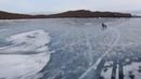 Озеро Байкал лёд и мотоцикл потрясающе