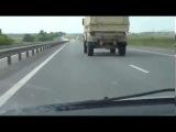 Ралийный КамАЗ 4911 на трассе 160 км/ч