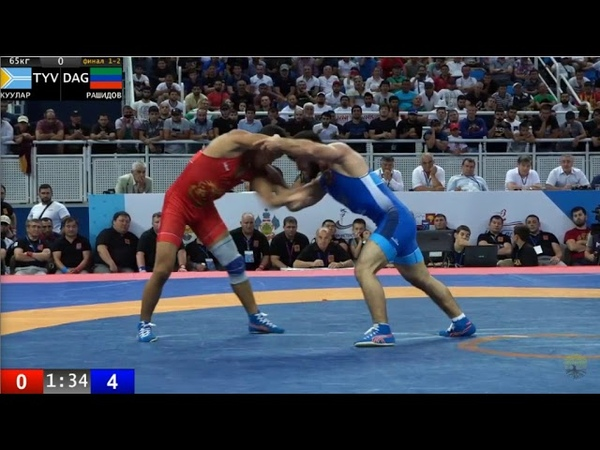 65кг за золота Начын Куулар Гаджимурад Рашидов Чемпионат России по вольной борьбе 2019