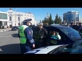 ДТП с машиной ДПС на площади Ленина 15.10.2018