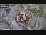 Экстремальный пол-дэнс: танцовщица из Воронежа исполнила номер на крыше 16-этажного здания