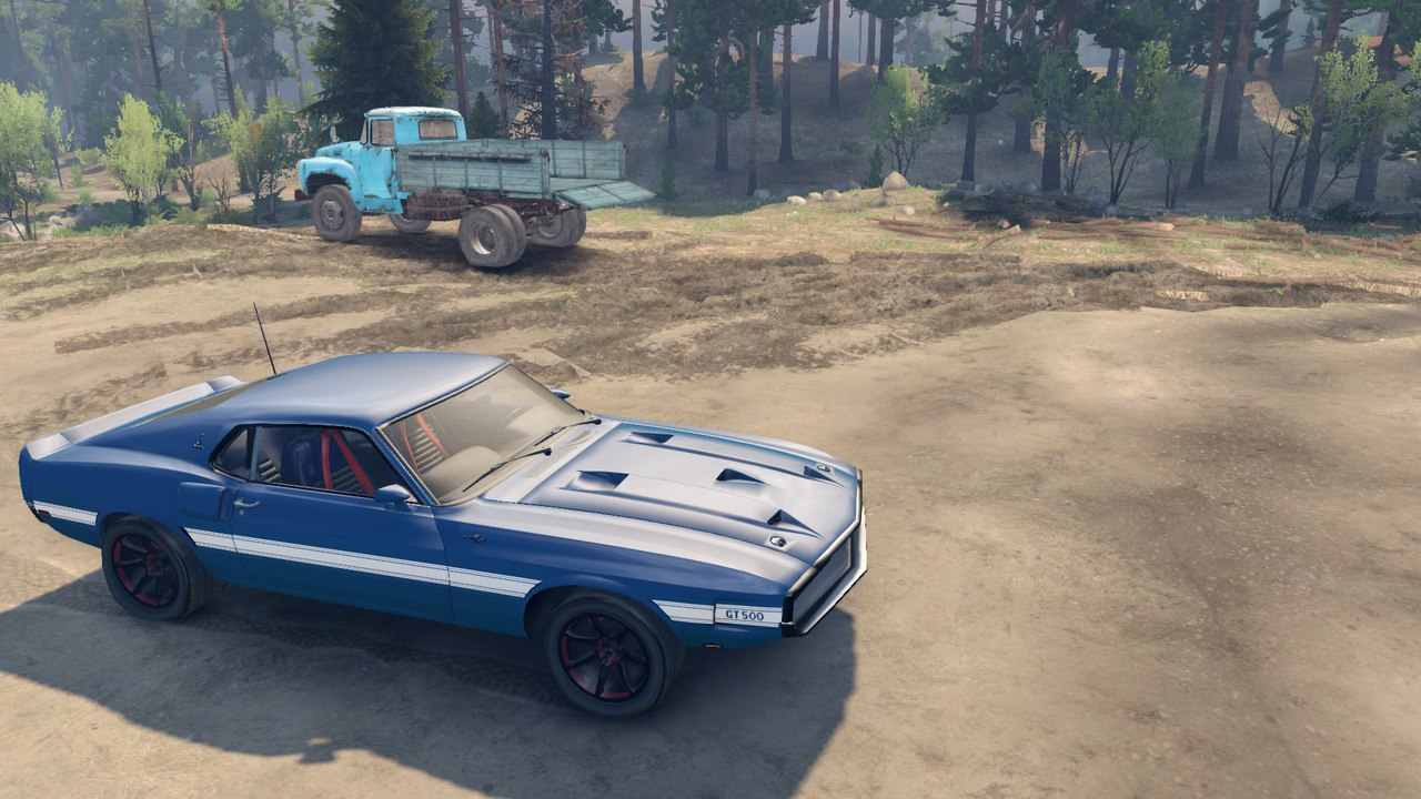 Ford shelby gt500 для Spintires - Скриншот 2