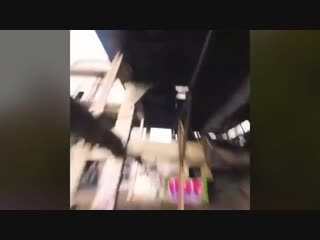 The way this drone flies through an abandoned building