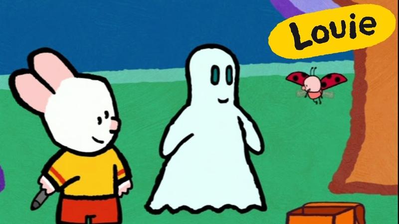 Cartoon for kids - Louie, draw me a ghost HD | Cartoon for kids