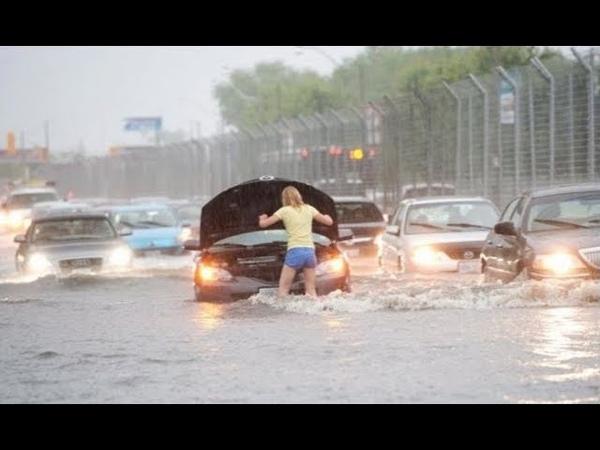 Потоп после дождя Новосибирск Северо Чемской