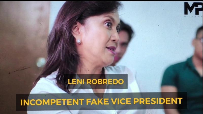 INCOMPETENT FAKE VP LENI ROBREDO