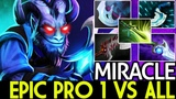 Miracle- Riki Epic Pro 1 vs All Carry Hard Game 7.19 Dota 2