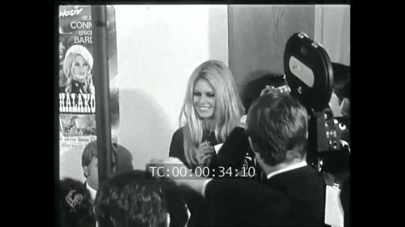 Брижит Бардо в Мюнхене на премьере Шалако 1968