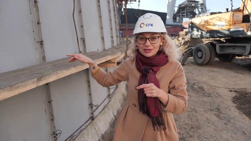 Первый бетон в теле дымовой трубы на Красноярской ТЭЦ 1