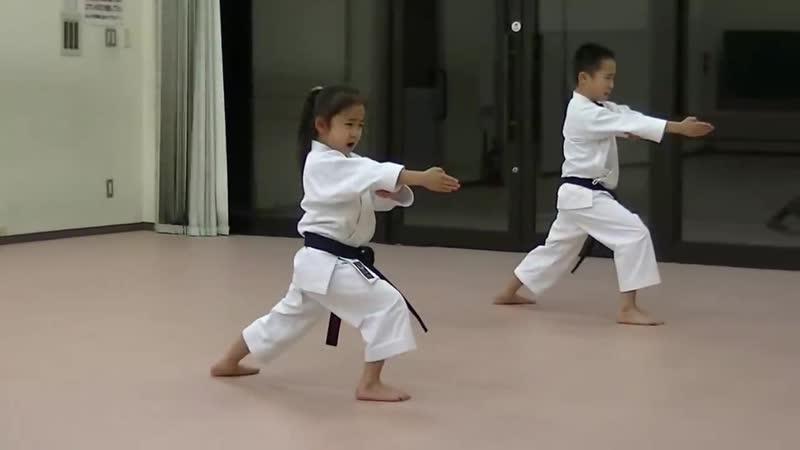 JKA_ Mahiro Masaki practice Heian shodan-godan and Tekki shodan part 2