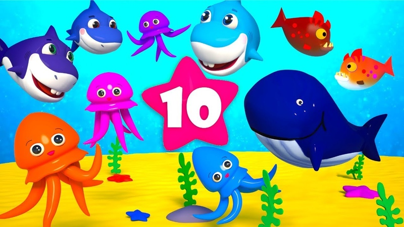 Ten Little Fish Learn To Count to 10 Children counting Song Numbers 1 thru 10