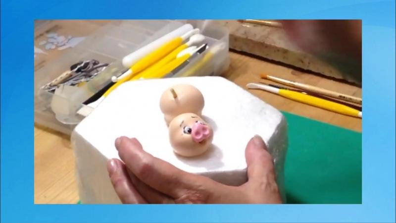 Как слепить декорированное украшение на тортики из мастики!