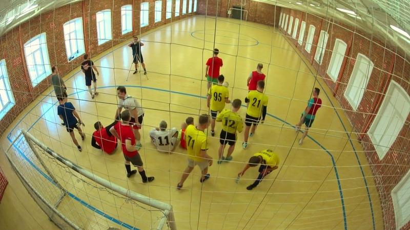 Активные игровые моменты мини футбола в предпраздничный женский день 07 марта 2018
