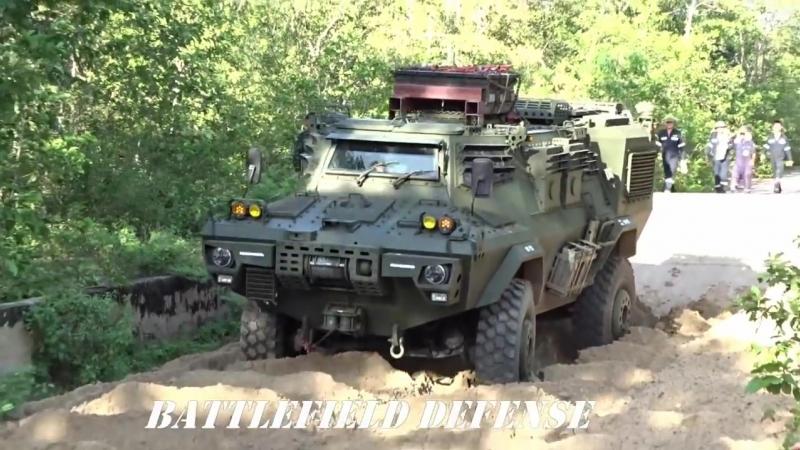 Испытания модернизированных американских бронетранспортеров Commando V-150 в Таиланде