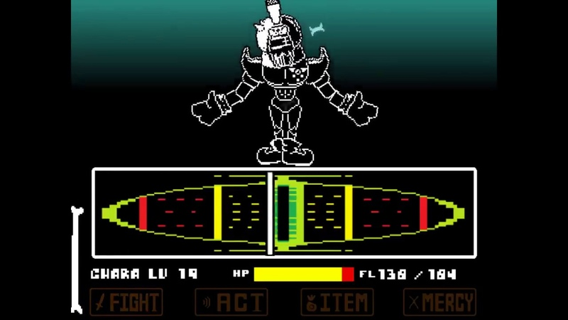 Reboot! REVENGE the unseen ending ACT2 Great Papyrus battle! [Demo,undertale fangame]