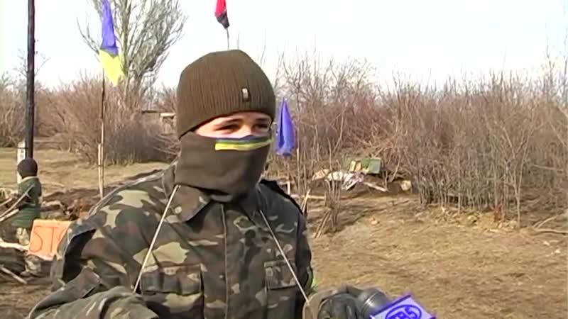 Украина. Школьники устроили блокпост. СУГС!