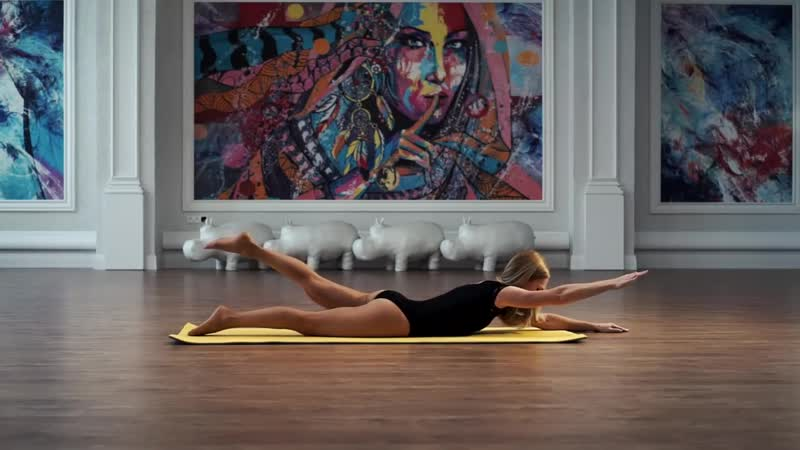 Гимнастика для осанки и укрепления спины часть 1. Упражнения при сколиозе сутулости остеохондрозе