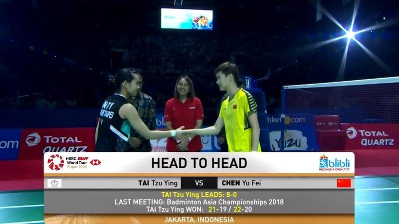Final - TAI Tzu Ying vs CHEN YuFei - Badminton Indonesia Open 2018