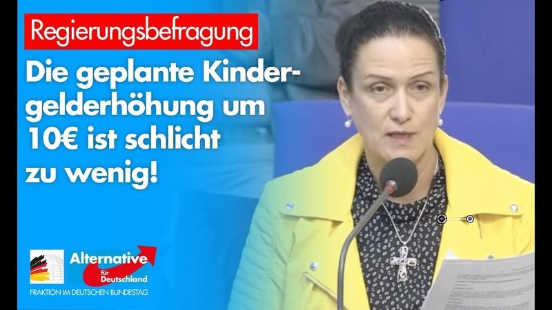 Geplante Kindergelderhöhung um 10€ ist schlicht zu wenig Nicole Höchst AfD Fraktion im Bundestag